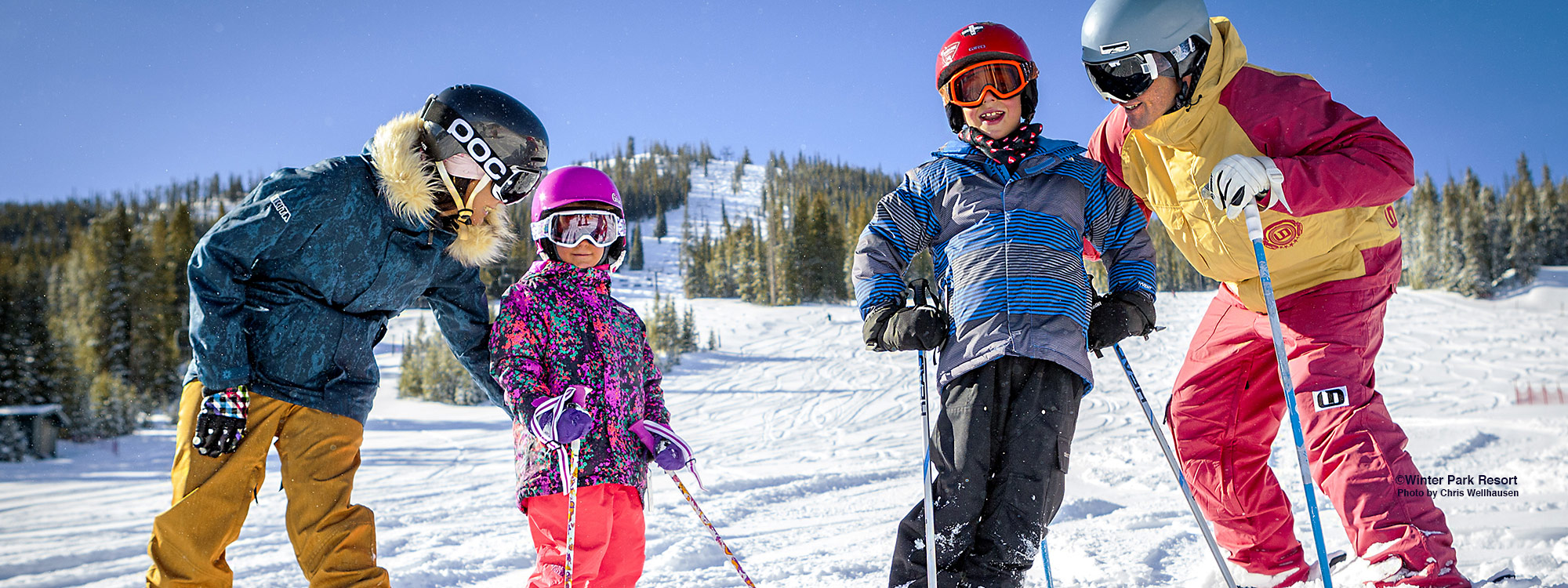 skiing for kids in winter park
