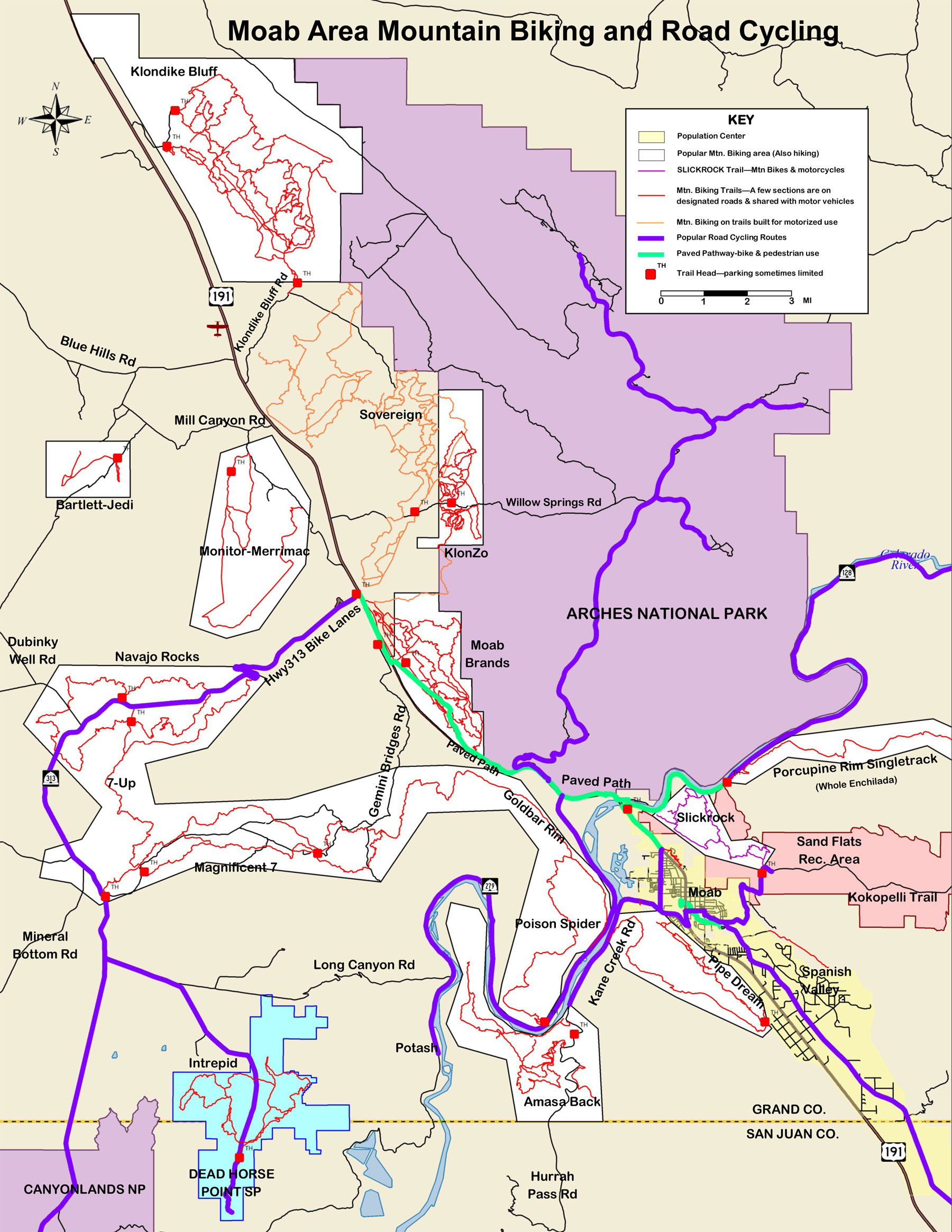 Moab Trail Maps For Hiking Biking And 4x4 Guestguide Publications