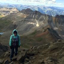Tiffani at Mt Sneffles, Colorado 14er