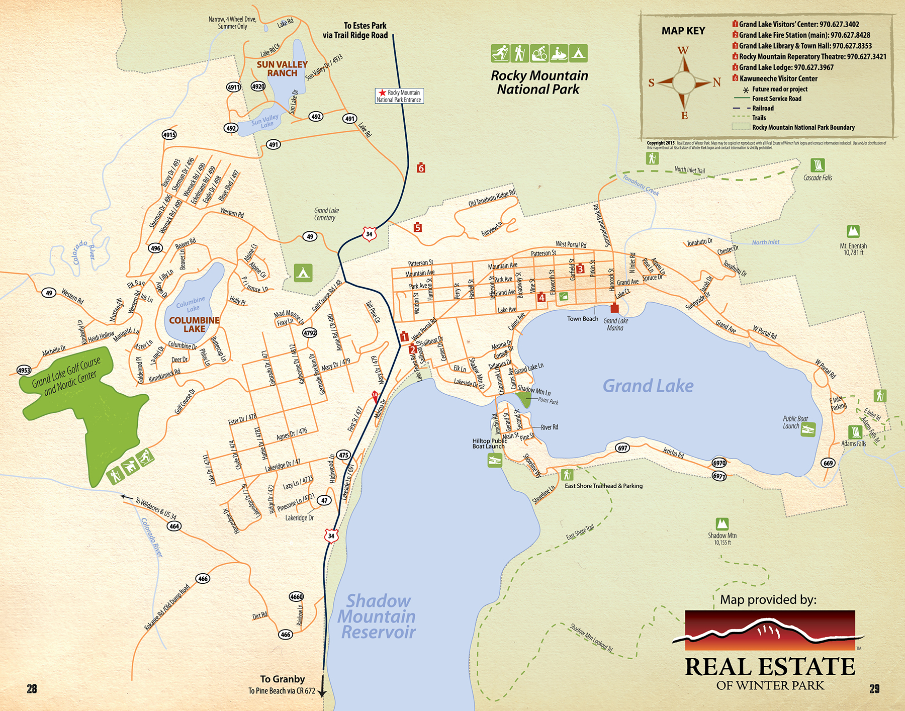 Grand Lake Map Grand Lake Town Map | Free GuestGuide Publications   Grand County Grand Lake Map