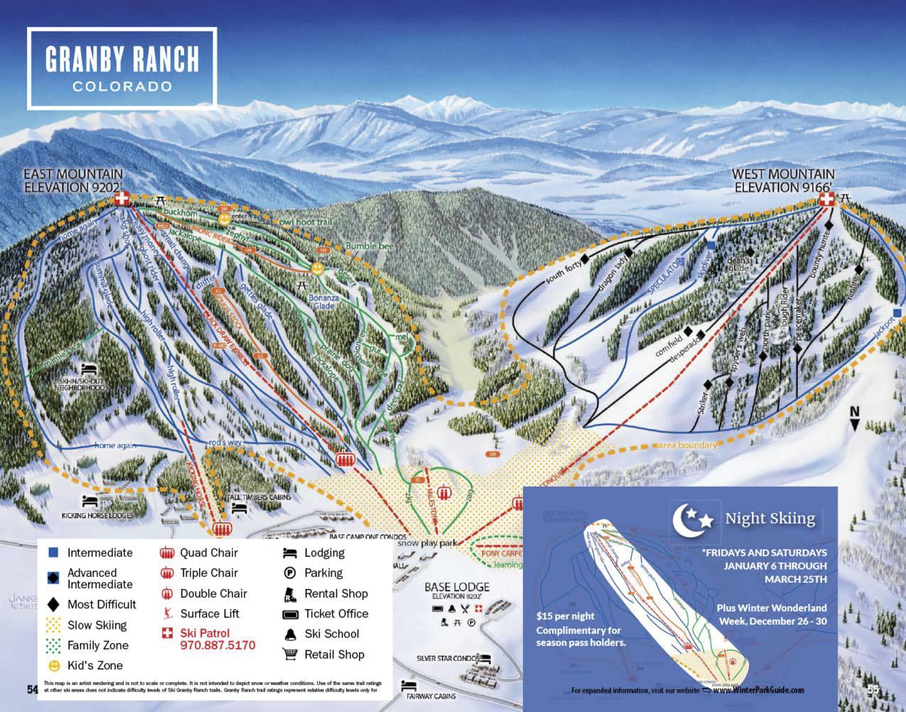 grand county downhill ski maps | free guestguide publications