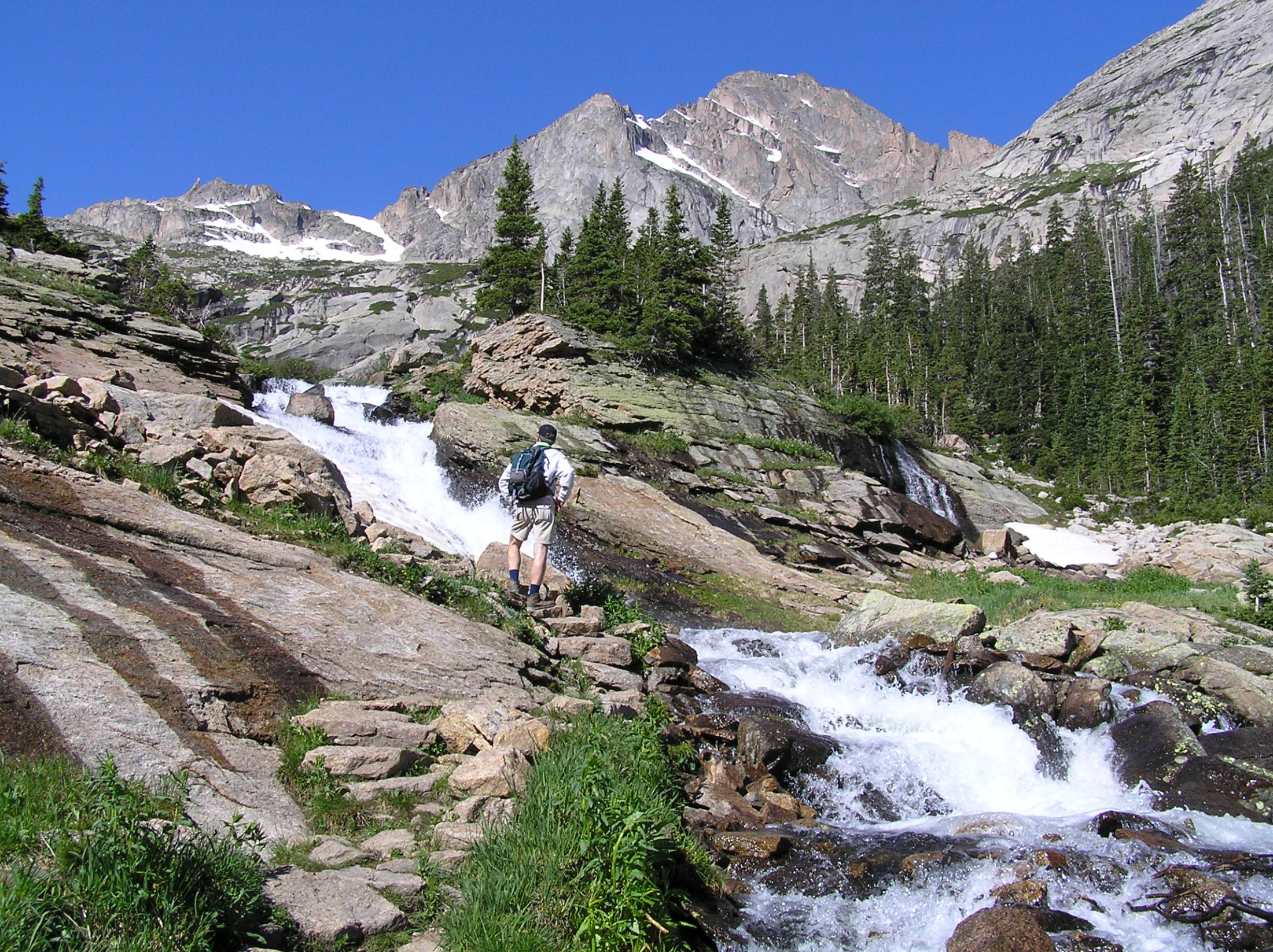 Waterfall hikes in rocky mountain national park guestguide publications ribbon falls altavistaventures Images