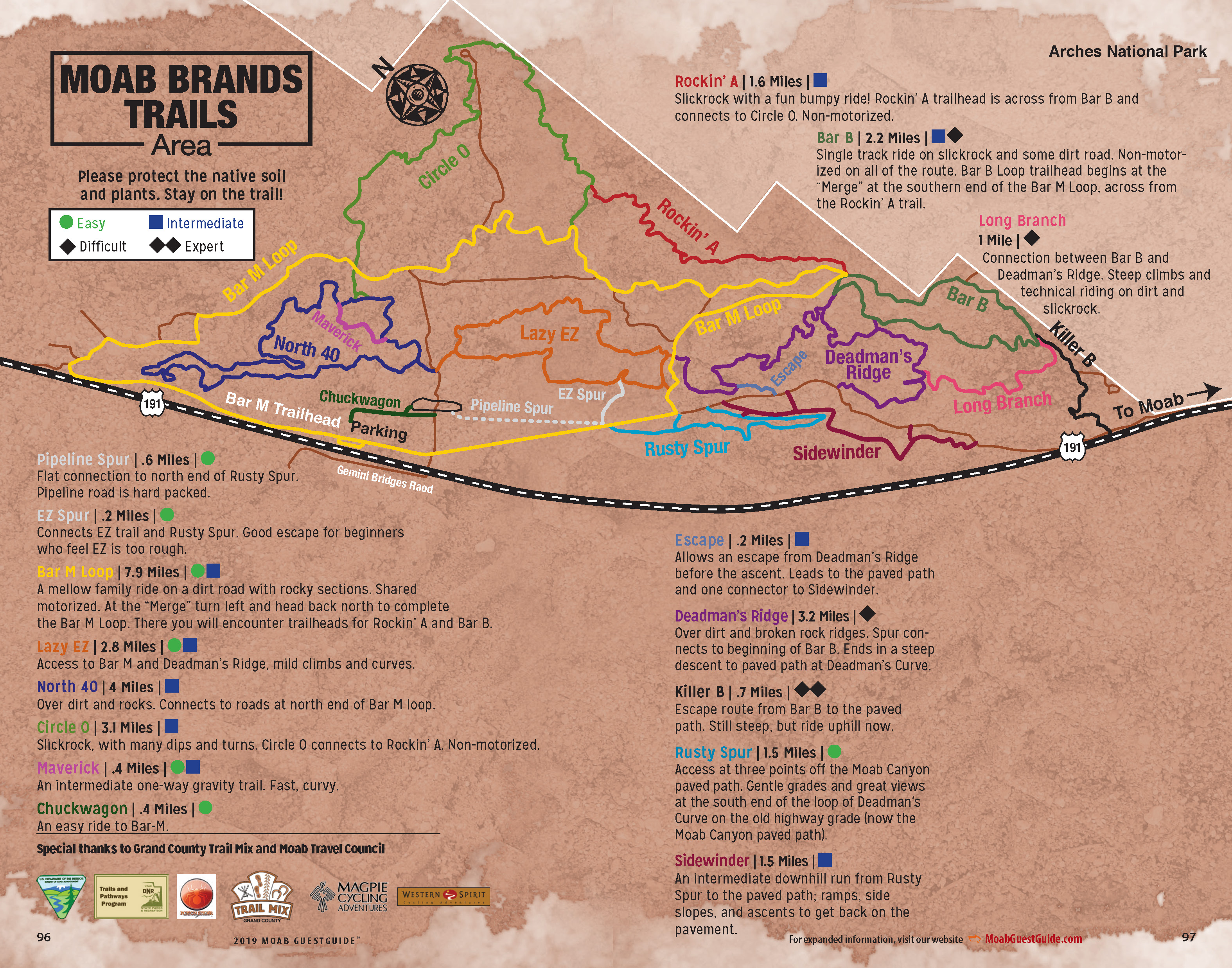 Moab Trail Maps for Hiking, Biking and 4x4 | GuestGuide Publications