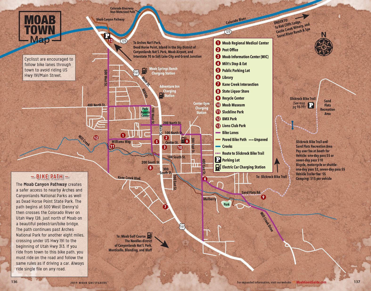 Moab Town and Area Maps | Free GuestGuide Publications
